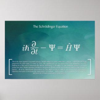 Poster L'équation de Schrödinger - affiche de maths