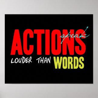 Poster Les actions parlent plus fort