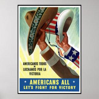 Poster Les Américains tous nous ont laissés lutter pour