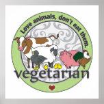 Poster Les animaux d'amour ne les mangent pas végétariens