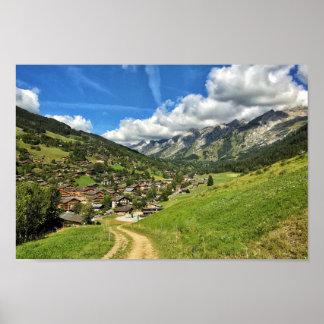 Poster Les Aravis - affiche française de la Haute-Savoie,