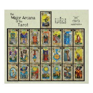 """Poster Les Arcana principaux du tarot [5""""]"""