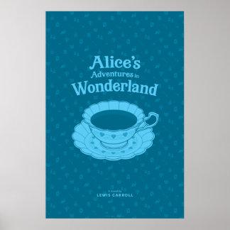 Poster Les aventures d'Alice en affiche littéraire du