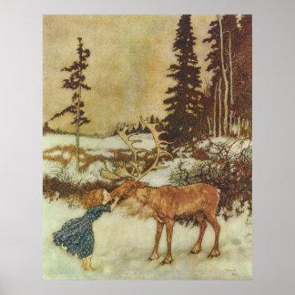 Poster Les beaux-arts de la Reine Edmund Dulac de neige