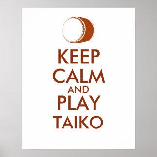 Poster Les cadeaux de Taiko gardent la coutume de tambour