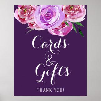 Poster Les cartes florales et le mariage de bouquet de