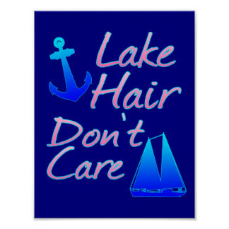 Poster Les cheveux de lac ne s'inquiètent pas