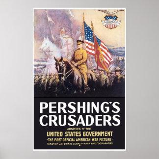 Poster Les croisés de Pershing -- Frontière