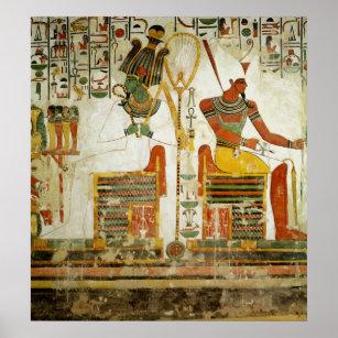 Poster Les dieux Osiris et Atum, de la tombe de