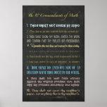 Poster Les Dix commandements des maths