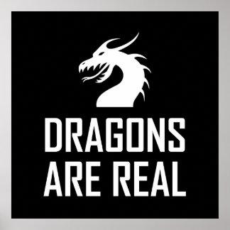 Poster Les dragons sont vrai imaginaire