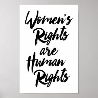 Poster Les droits de la femme sont des droits de l'homme
