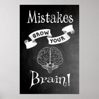 Poster Les erreurs élèvent votre cerveau