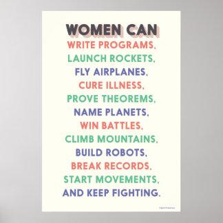 """Poster Les femmes de merveille """"femmes mettent en boîte…"""""""