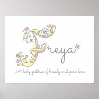 Poster Les filles de Freya d'art de monogramme de F