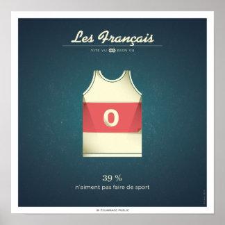 Poster Les Français qui n'aiment pas faire de sport