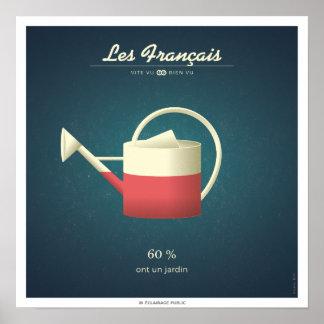 Poster Les Français qui ont un jardin