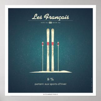 Poster Les Français qui partent aux sports d'hiver