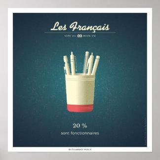 Poster Les Français qui sont fonctionnaires
