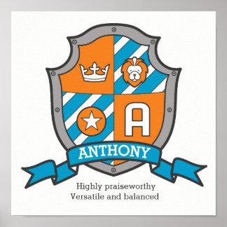Poster Les garçons de la lettre A d'Anthony appellent le