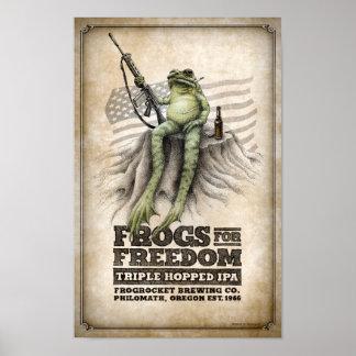 Poster Les grenouilles pour la liberté Triple-ont sauté à