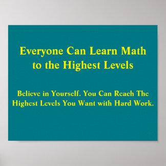 Poster Les mentalités Affiche-Chacun de maths peuvent