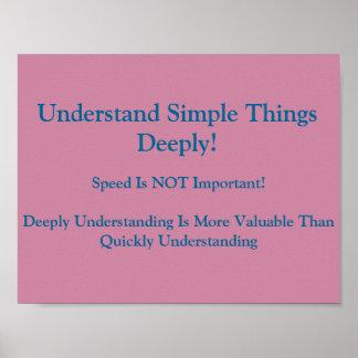 Poster Les mentalités de maths Affiche-Comprennent