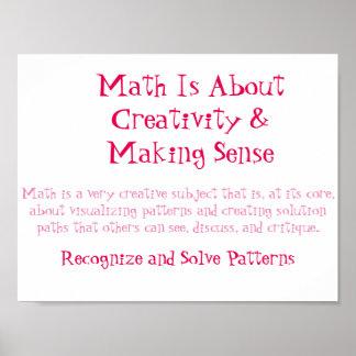 Poster Les mentalités de maths Affiche-Reconnaissent et