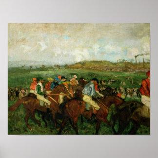 Poster Les messieurs d'Edgar Degas | emballent, avant le
