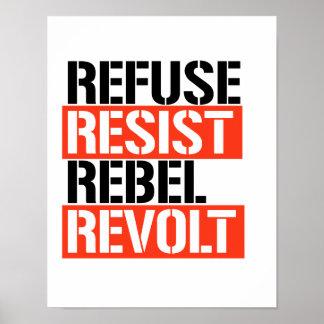 Poster Les ordures résistent à la révolte rebelle -