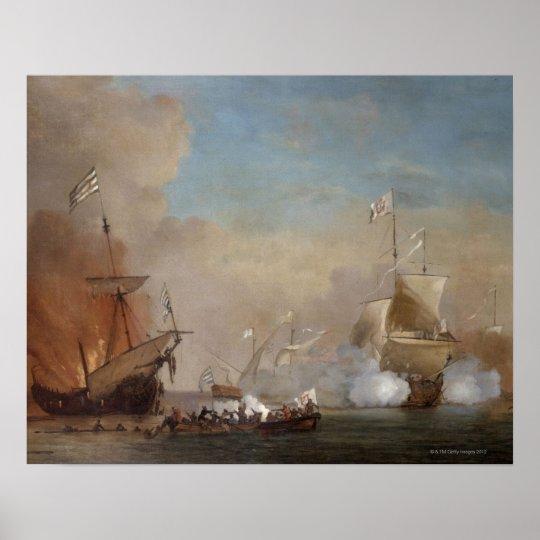 Poster les pirates attaquent une peinture anglaise de - Poster peinture ...