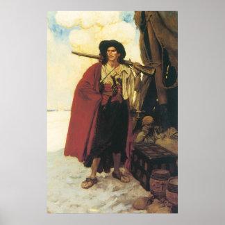 Poster Les pirates Buccaneer de cru étaient un camarade