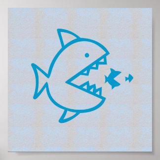Poster Les POISSONS graphiques de plage de mer de