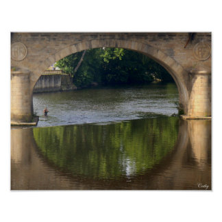 Poster Les ponts de la Vienne Limoges