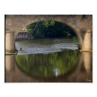 Poster Les ponts de la Vienne, Limoges