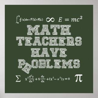 Poster Les professeurs de maths ont des problèmes