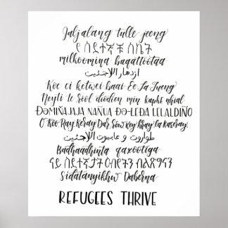 Poster Les réfugiés prospèrent affiche