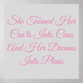 Poster Les rêves d'une fille