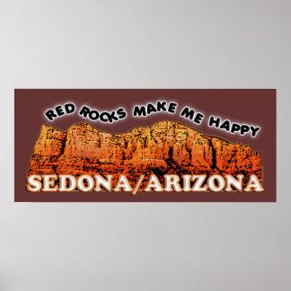 Poster Les roches rouges me rendent heureux