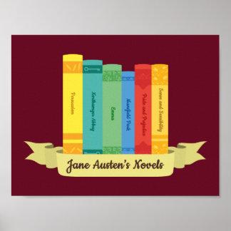 Poster Les romans de Jane Austen III