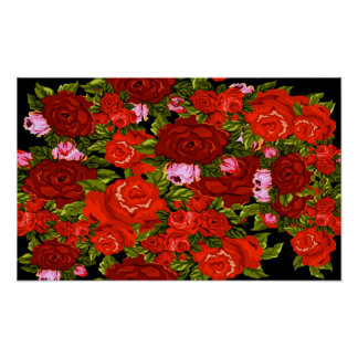Poster Les roses sont rouges