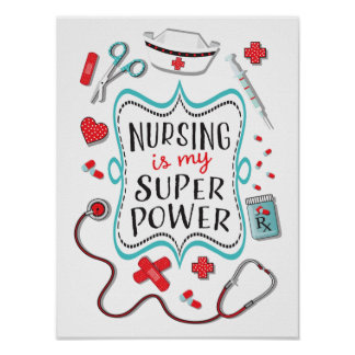 Poster Les soins sont ma copie d'affiche de super pouvoir