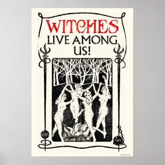 Poster Les sorcières vivent parmi nous
