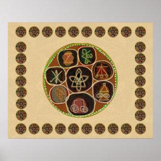 Poster Les symboles du maître curatif de REIKI Karuna