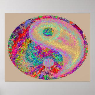 Poster Les symboles du maître curatif de YinYang Yin Yang