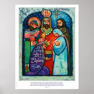 Poster Les trois Rois Christmas Poster, vers de 2h11 de