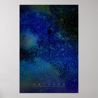 Poster Les voyageurs, atteignant pour les étoiles,