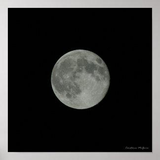 Poster L'espace de Supermoon de ciel nocturne de pleine