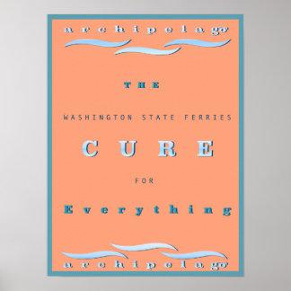 Poster L'état de Washington Transporte en bac l'affiche