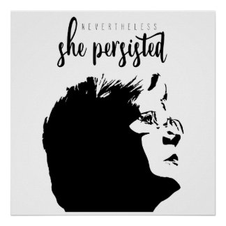 """Poster #LetLizSpeak """"néanmoins, elle a persisté"""" affiche"""